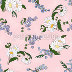 Daisies Friends Seamless Vector Pattern Design