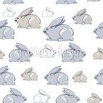 Kaninchen Familie Nahtloses Vektormuster