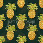 Ripe Pineapples Seamless Vector Pattern Design