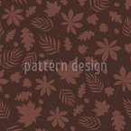 Leaves At Night Seamless Vector Pattern Design