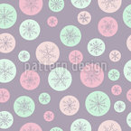 Snowflake In A Bubble Pattern Design