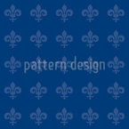 Fleur De Lis Blue Repeating Pattern
