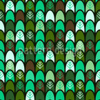 Trees In Line Seamless Vector Pattern Design