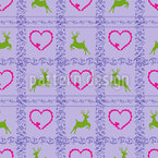 A Deer Romance Seamless Vector Pattern Design