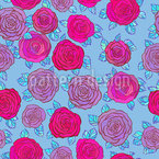 In The Rose Sky Seamless Vector Pattern Design