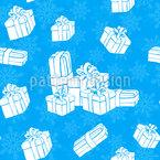 Winter Geschenke Nahtloses Vektormuster