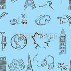 World Travel Seamless Vector Pattern Design