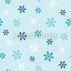 Winter Snowflakes Seamless Vector Pattern Design
