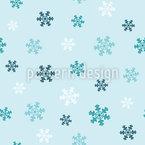 Flocos de neve de inverno Design de padrão vetorial sem costura