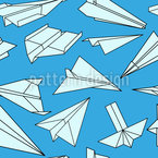 Full Of Paper Planes Seamless Pattern