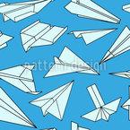 Voller Papierflieger Nahtloses Vektormuster