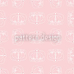 Corona Rose Seamless Vector Pattern Design