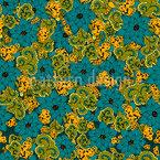 Vintage Blumen und Paisley Nahtloses Vektormuster