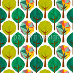 Geometric Trees Seamless Vector Pattern Design