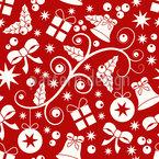 Weihnachtsvorbereitungen Nahtloses Vektormuster