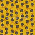 Afro Bohnen Musterdesign