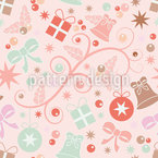 Romantic Christmas Seamless Vector Pattern Design