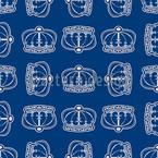 Corona Blue Pattern Design