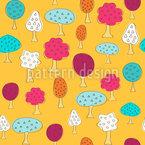 Herrliche Obstbäume Vektor Muster