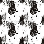 Cats Have Wings Repeat Pattern