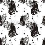 Katzen Haben Flügel Rapportmuster
