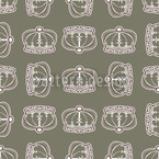 Corona Olive Seamless Vector Pattern Design