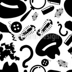 Detective Seamless Vector Pattern Design
