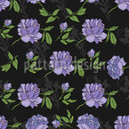 Night Peony Seamless Vector Pattern Design