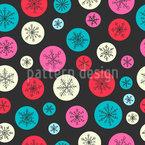 Schneeflocken Blasen Muster Design