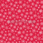 Snowflakes All Around Seamless Vector Pattern Design