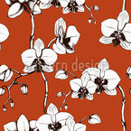 Blood Orchid Seamless Vector Pattern Design