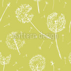 Dandelion Fly Seamless Vector Pattern Design