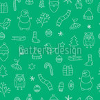Merry Christmas time Seamless Vector Pattern Design