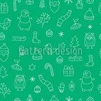 メリー・クリスマス・タイム シームレスなベクトルパターン設計