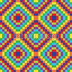 Patchwork Zum Quadrat Muster Design