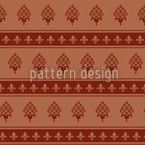The Bourbon Lily Seamless Vector Pattern Design