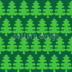 Christmas Tree Forest Seamless Vector Pattern