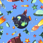 Space Travelers Vector Pattern