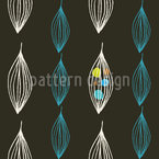 Mid Century Leaves Seamless Vector Pattern Design