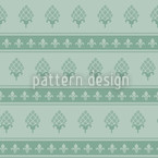 The Bourbon Lily Mint Seamless Vector Pattern Design
