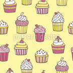 All Kinds Of Cupcakes Seamless Vector Pattern Design