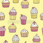 Alle Arten Von Cupcakes Musterdesign