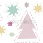 Christmas Tree Sparkle Seamless Vector Pattern