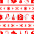 Festive Decorations Seamless Vector Pattern Design