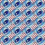 Occhi Pazzo su Strisce disegni vettoriali senza cuciture