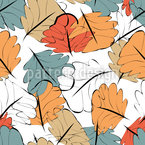 Glowing Autumn Seamless Vector Pattern Design