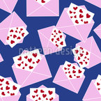 More Love Letters Vector Pattern