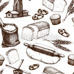 Vom Korn zum Brot Vektor Design