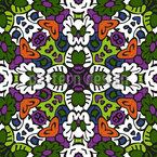 Stammes Kaleidoskop Nahtloses Vektormuster