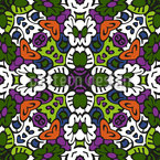 Tribal Kaleidoscope Seamless Vector Pattern Design